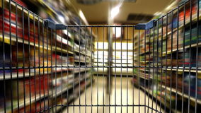 Shoppingvagn 1b stock video