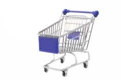 Shoppingvagn, isolerad vit Arkivfoton