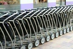 Shoppingvagnar royaltyfria bilder