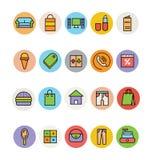 Shoppingvektorsymboler 6 Arkivbilder