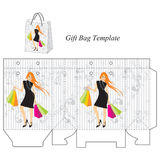 Shoppinh bag with a modern girl Stock Photography