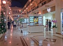 Shoppping mall decorated for Christmas. Moscow. Petrovskiy passage shopping mall decorated for Christmas. Moscow, Russia Stock Photography