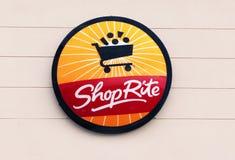 ShopRite Zeichen. stockbild
