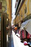 Shops in Alcaiceria, Granada Stockfoto
