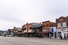 Main street shops Rochester Michigan royalty free stock image
