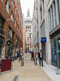 Shops along Queens Head Passage, St Pauls, London Royalty Free Stock Photo