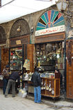 Shops in the bazaars of Damascus Royalty Free Stock Photography