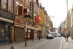 Shops in the Brick Lane London Royalty Free Stock Photos