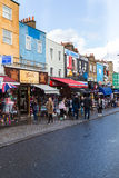 Shops and Buildings in Camden Town Royalty Free Stock Photos