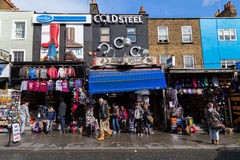 Shops and Buildings in Camden Town Royalty Free Stock Image
