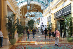 Shops in Caesar's Palace  in Las Vegas Stock Images