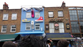 Shops in camden town. View of the most important street Royalty Free Stock Photo