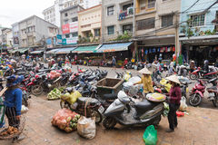 Shops by central city market in Da Lat, Vietnam Stock Photos