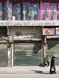 Shops in central damascus syria Royalty Free Stock Images