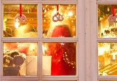Shops at Christmas at the Tivoli in Copenhagen Stock Photos