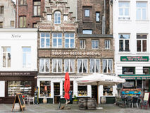 Shops in city centre of Antwerp, Belgium Stock Photos