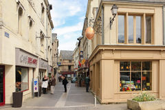 Shops in the city centre. Chinon. France Royalty Free Stock Photos