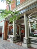 Shops in Downtown Greenville, South Carolina Royalty Free Stock Photo