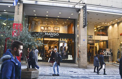 Shops at Ermou street Athens Greece Royalty Free Stock Image