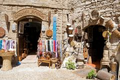 Shops at the Essaouira Stock Images