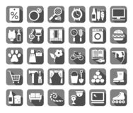 Shops, Flat Icons, Vector Stock Photography