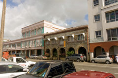 Shops on front street, st. vincent Stock Image