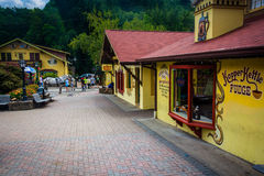 Shops in Helen, Georgia. Royalty Free Stock Images