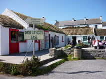 Shops in Inis Mor, Ireland. Old style houses used as souvenirs shops royalty free stock photos