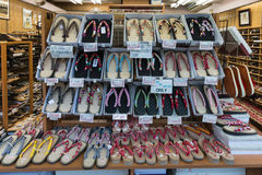 Shops with Japanese footwear Royalty Free Stock Photos