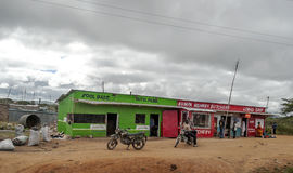 Shops of kenya village Royalty Free Stock Images