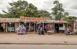 Shops of kenya village Royalty Free Stock Photos