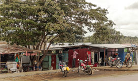 Shops of kenya village Stock Photography