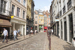 Shops in Lille Ville Royalty Free Stock Image