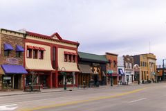Shops on main street Rochester Michigan stock photo