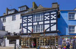 Shops Middle Street Brixham Torbay Devon Endland UK Stock Image