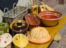 Shops mit Andenken in Elsass, Lizenzfreies Stockbild