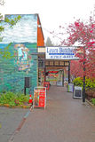 Shops and mural on Leura Mall in Leura, New South Wales, Austral Royalty Free Stock Images