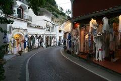 Shops in positano Stock Photo