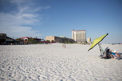 Shops, restaurants, bars and hotels along Pensacola Beach, Florida Stock Image