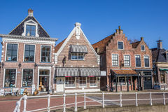 Shops and restaurants in historical village Balk. The Netherlands Stock Photos