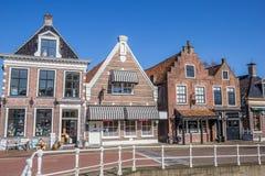 Shops and restaurants in historical village Balk Stock Photos