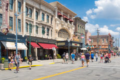 Shops and restaurants at Universal Studios Florida Royalty Free Stock Images
