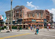 Shops and restaurants at Universal Studios Florida Royalty Free Stock Photos