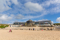 Shops and retail units Fistral beach Newquay North Cornwall England UK Stock Photography