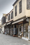 Shops in Rhodes old town Royalty Free Stock Image