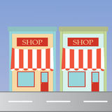 Shops at road Royalty Free Stock Photo