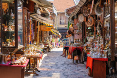 Shops selling souvenirs in Serajevo Stock Image