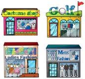 Shops Set Royalty Free Stock Image
