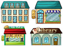 Shops set Stock Photos