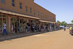 Shops in South African town Royalty Free Stock Image